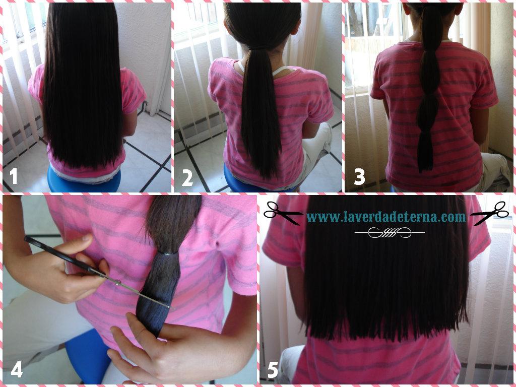 Como cortar el cabello largo en casa